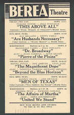 1942 Berea Theatre This Above All W/T Power & J Fontaine Berea Oh Etc