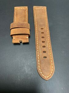 Panerai-Brown-Assolutamente-OEM-Suede-Strap-24mm-Lug-for-Tang-Buckle