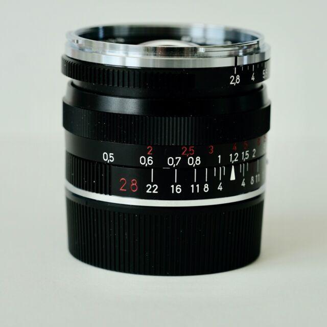 Carl Zeiss Manual Focus BIOGON T *   28mm f2.8 ZM Lens, BLACK, LEICA M MOUNT