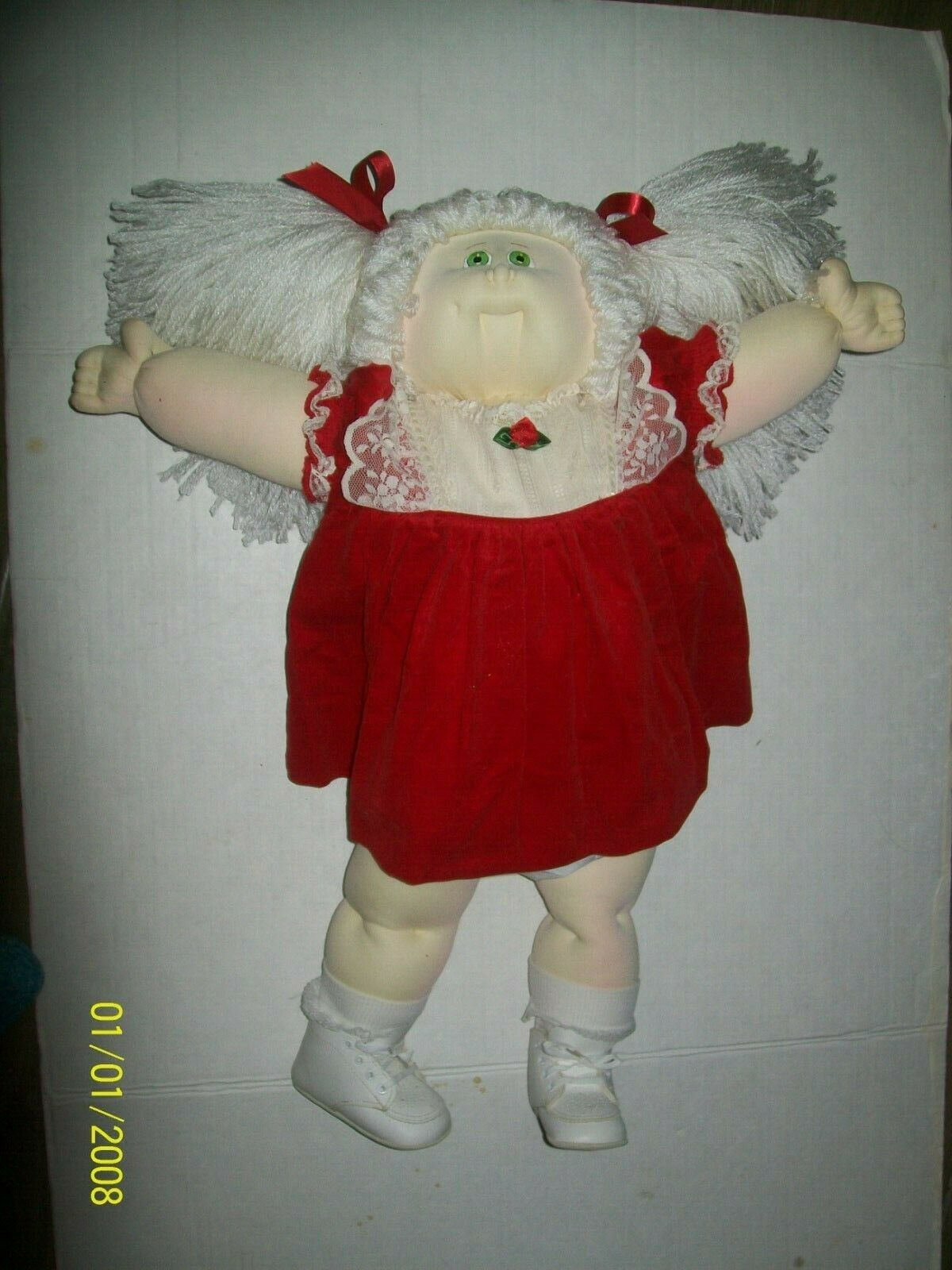 CABBAGE PATCH SOFT SCULPTURE 80 XMAS ED  GIRL   HANDSIGNED ONLY