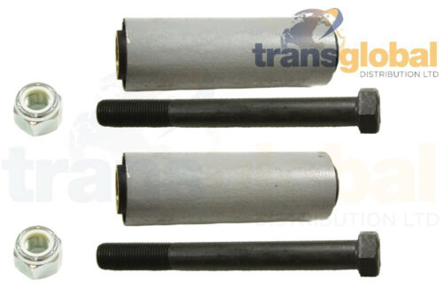 """Front Châssis Printemps buissons Inc Nuts /& Bolts for Land Rover Série SWB 88/"""""""