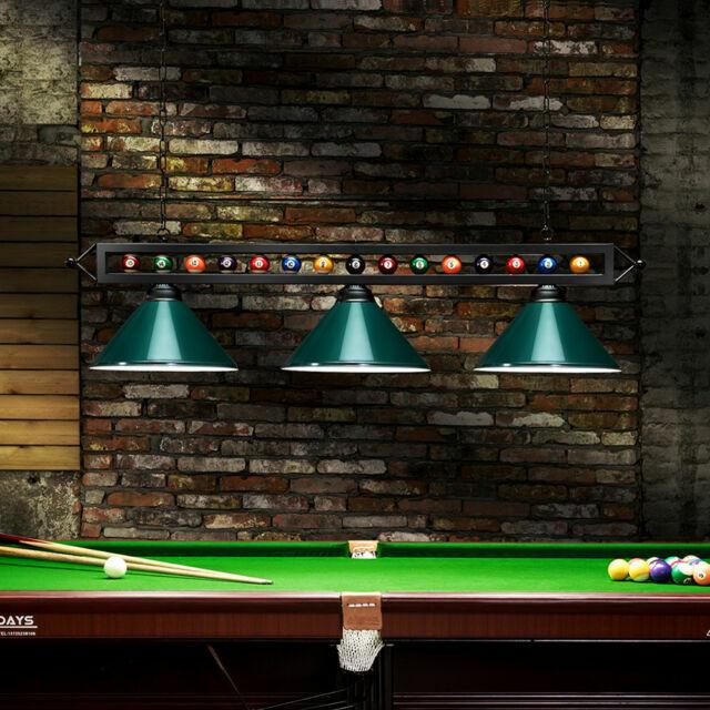 Billiard 3 Lights Hanging Lamp Bar Snooker Style Pool Table Metal Pendant Lights For Sale Online Ebay