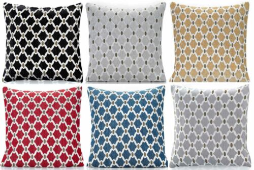 "BERKELEY JACQUARD CHENILLE CUSHION COVER 18/"" x 18/"" 22/"" x 22/"" ALL COLOURS"