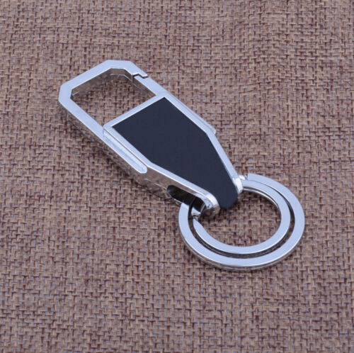 Men Leather Key Chain Metal Car Key Ring Key Holder Gift Personalized Chains ES
