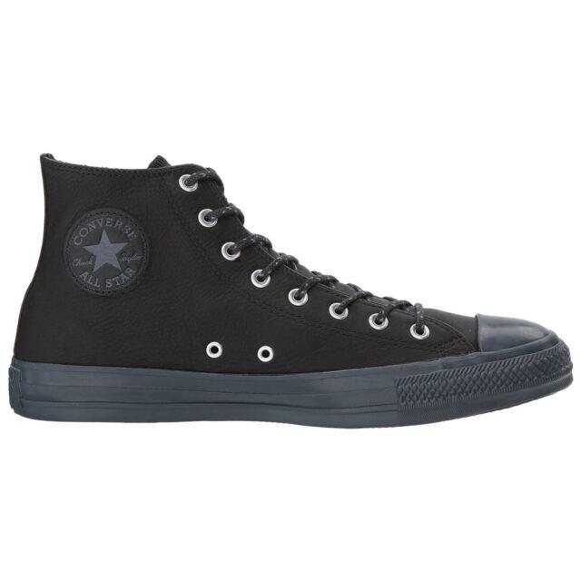 b892bc89d00c Converse Chuck Taylor All Star Hi Black Sharkskin Womens Leather ...