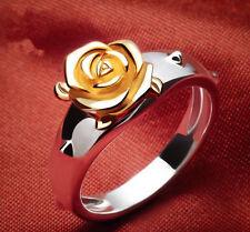 Rozen Maiden Suigintou Mercury Lampe Ring Rose Ring Pendant 925 silver Necklace