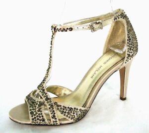 88d8deebc4c Antonio Melani Shoes 6.5 M Sandal Champagne Satin Jewel Evening ...