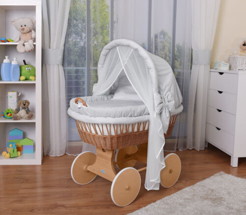 Fabrics Gray// XXL Bassinet Waldin Baby Toy Wagon complete with Accessories