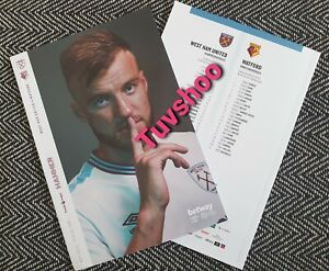 West-Ham-United-v-Watford-COMPLETE-SOLD-OUT-Programme-15-7-2020-LAST-FEW