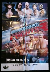 Details About Wwe Bragging Rights 2009 Ppv Promotional Poster Undertaker Kane Good Condition