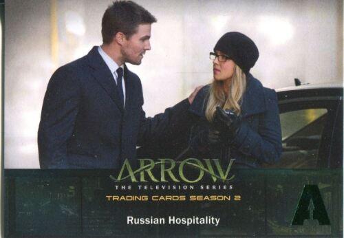Arrow Season 2 Green Foil Parallel Base Card #16 Russian Hospitality