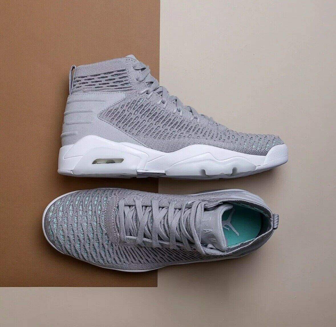 Nike Jordan Flyknit Elevation 23 Atmosphere Grey Men Basketball shoes AJ8207-004