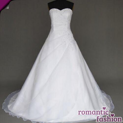 robe de mariée blanc et bordeaux immédiatement +w021 ♥ Neuf ♥ nouveau: taille 34-54 robe de mariée