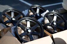 18X9.5 Avid.1 Av06 5X114.3 +38 Black Rims Fits Acura Tsx Rsx Tl Civic