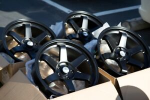 X Avid Av X Black Rims Fits Acura Tsx Rsx Tl - Acura tsx black rims