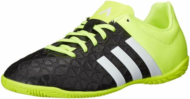 newest 79e72 25448 Adidas Ace 15.4 indoor Shoes Kids Youth Size US 5 B27010 Black Neon Soccer
