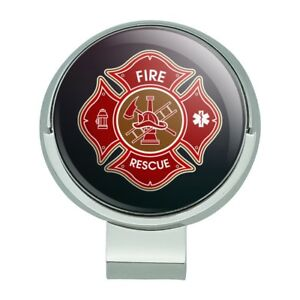 Firefighter Fire Rescue Maltese Cross Golf Hat Clip With Magnetic ... dfcc96c4bd93