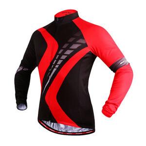 70f4f275c Men s Cycling Jersey Long Sleeve Autumn Cycle Bike Racing Top MTB ...