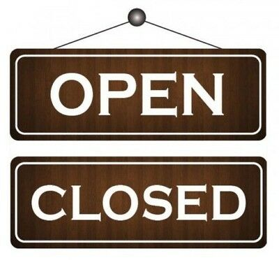 art.718266 Open//Closed-Turning Sign 25 cm x 11,5 cm laminated timber