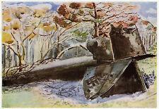 Seconda GUERRA MONDIALE Bomber in legno, Paul Nash STAMPA PUB. 1945