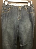 Lands End Dark Wash Original Fit Slim Leg Women Jeans Size 8 L31