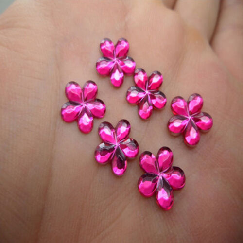 100Pcs DIY New Resin Flower shape Flatback Scrapbooking Wedding Craft Decoration