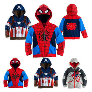 UK Spiderman Captain America Baby Boy Girls Kid Hood