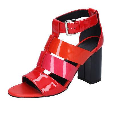 Women's shoes HOGAN 7.5 (EU 37,5) sandals red patent leather pink BK646-37,5 | eBay