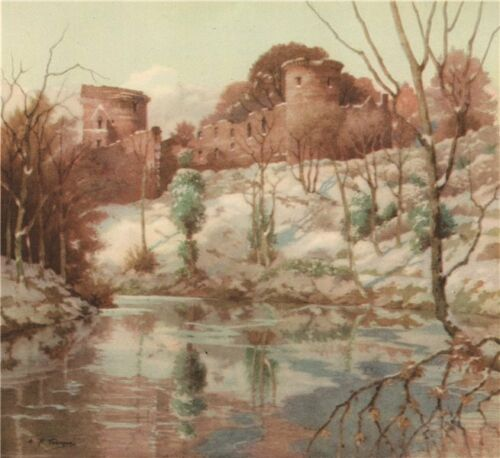 Scotland LANARKSHIRE P Bothwell Castle Thomson 1952 old print By A