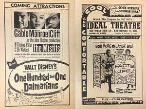 Gable-Marilyn-Monroe-GONE-WITH-THE-WIND-1958-handout-Ideal-Theatre-Hampden-MD