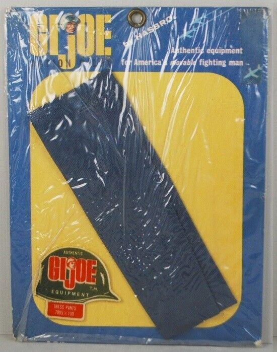 Gi Joe 1964 Moc piloto piloto piloto vestido de uniforme Pantalones tarjeta pequeña W Casco Pegatina  mas preferencial