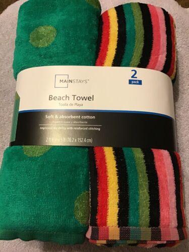 "Mainstays Beach Towels 2 Pack 30""x60"""
