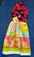 Handmade Easter Eggs & Chicks Holiday Hanging Kitchen Hand Towel 1205