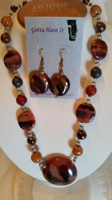 Kazuri Hand-Painted Fair Trade Earthling Ceramic Necklace ...