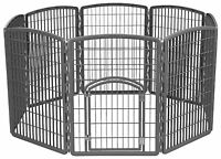 Iris Plastic Exercise/containment Pet Pen For Dogs, 63 By 34-inch, Dark Gray , N