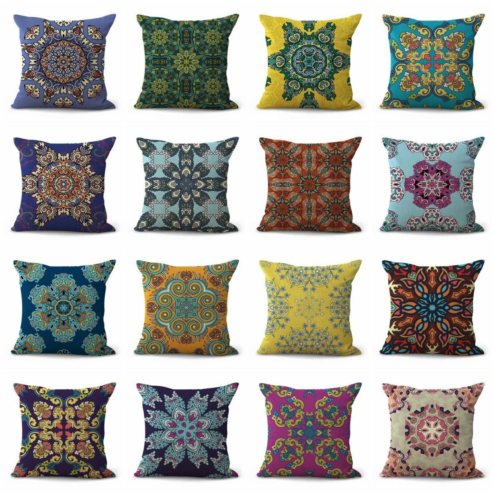 US Vendeur-Lot de 12 Accent pillowhinduism Meditation Mandala housses de coussin