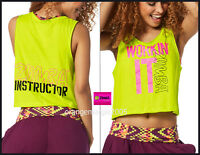 Zumba Instructor Zin Workin It Instructor Tank Tee Top - Convention Rare S M L