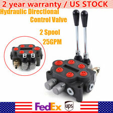 25gpm 2 Spool Hydraulic Directional Control Valve Tractor Loader With Joystick Usa
