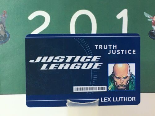 HeroClix DCID 004 Lex Luthor ID card convention exclusive