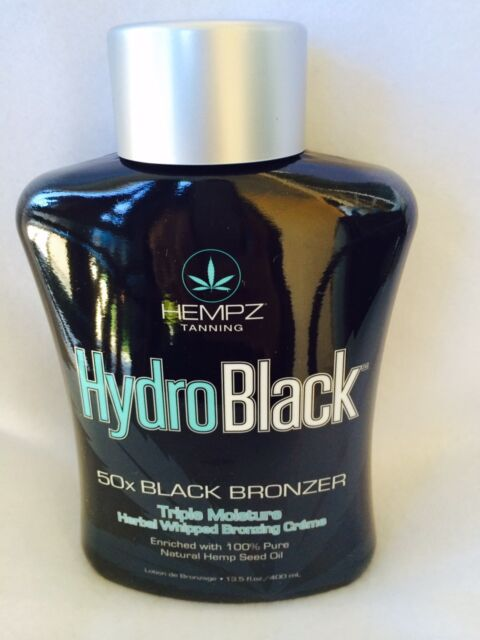 Hempz HydroBlack 50X Black Bronzer Triple Moisturizer Tanning Lotion