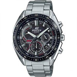 Casio Edifice Quartz Black Dial Silver Steel Bracelet Men Watch EFR-570DB-1AVUEF