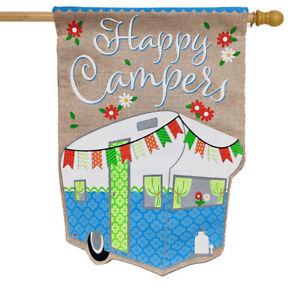 "Springtime Pickup Burlap House Flag Welcome Floral 28/"" x 40/"" Briarwood Lane"