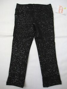 Jumping-Beans-Black-Glittery-Sparkling-Cotton-Jeggings-Pants-Size-2T-New