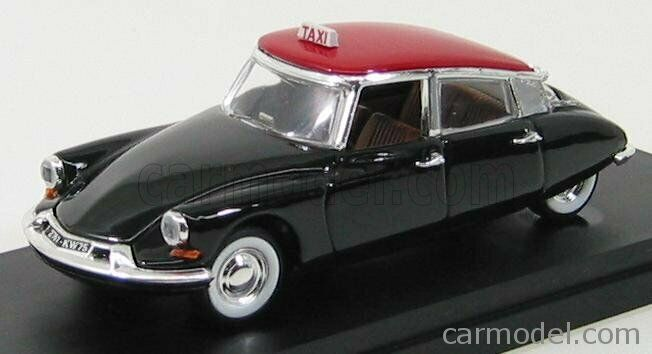 Rio-models 4159 scala 1 43 citroen ds19 taxi de paris 1963 schwarz rot