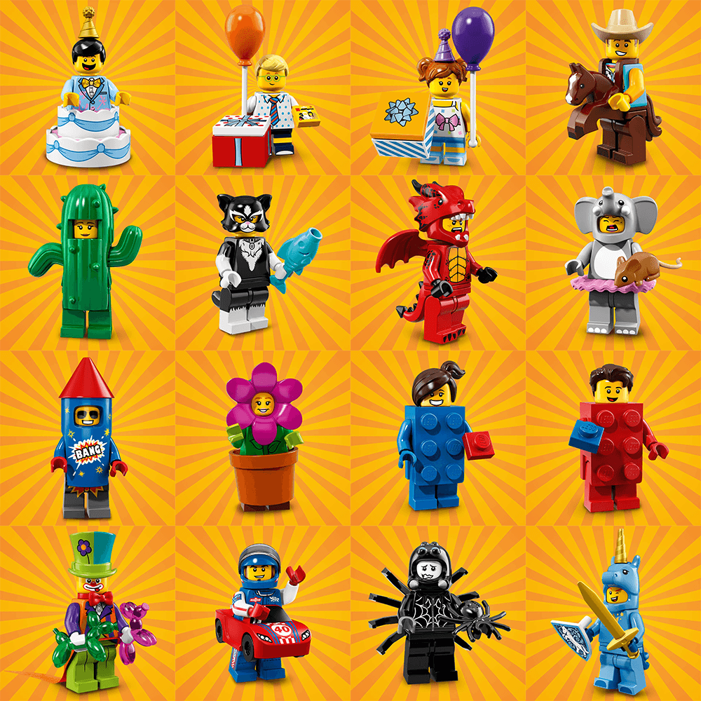 Lego Series 18 Minifigures - Choose your RE SEALED Party Mascot CMF Figure 71021