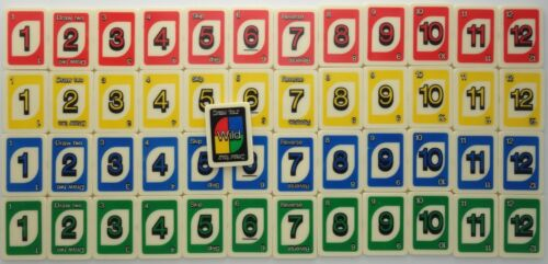 replacement parts Uno Rummy-Up tile rummy game craft pieces red green yellow blu