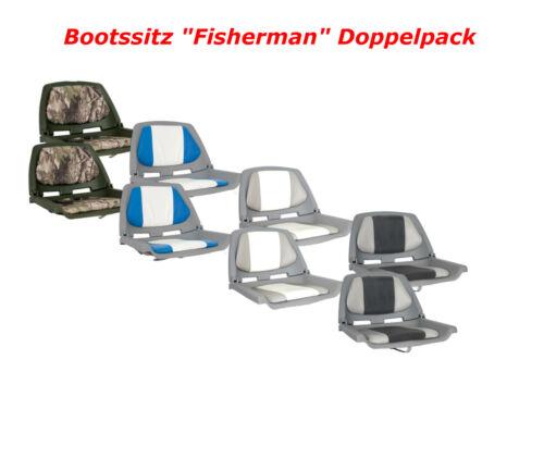 "2x Bootssitz /""Fisherman/"" klappbar Anglerstuhl wetterfest Steuerstuhl Bootsstuhl"