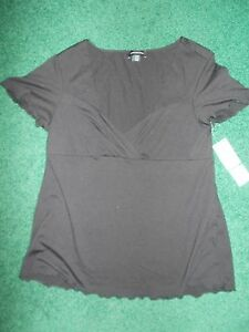 Blusa superiore con tag New York poliestere cappuccio nera con Jones New in di manica misto York qpqUa
