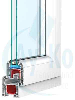 1 Flügler Kunststofffenster Kunststoffenster Kunststoff Fenster PVC Dreh Kipp
