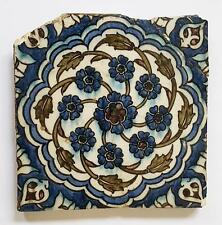 16TH CENTURY DAMASCUS IZNIK STYLE TILE 8.25 Inches